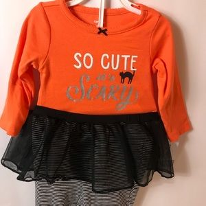 Halloween Carters 2-piece Girls outfit 6 month